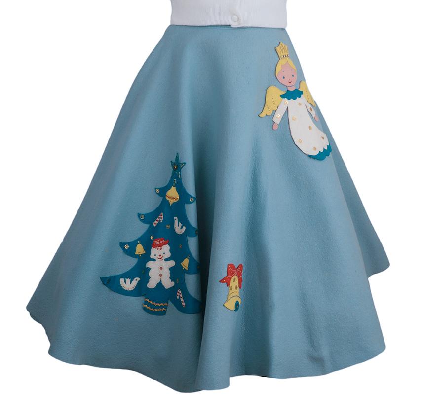 1950s Christmas Circle Skirt Ballyhoovintage Com