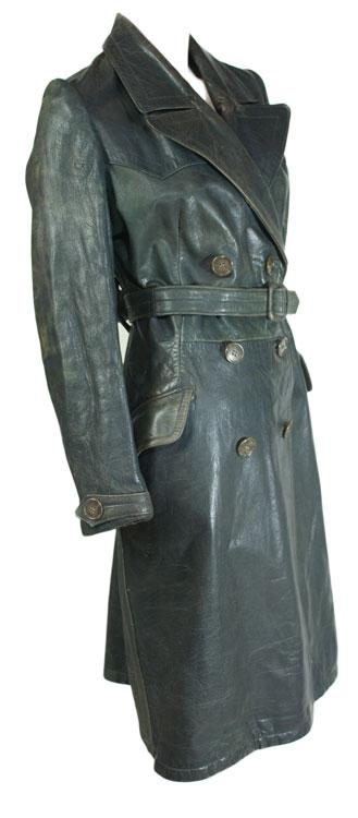 1940s Leather Trench Coat Ballyhoovintage Com