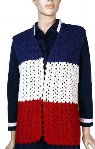 Crocheted Hippie Vest Ballyhoovintage