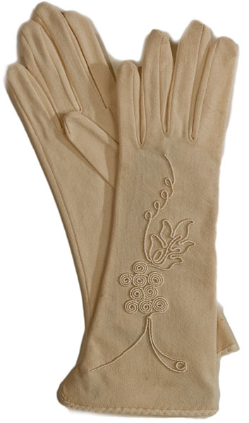 1930s Embroidered Evening Gloves Ballyhoovintage Com