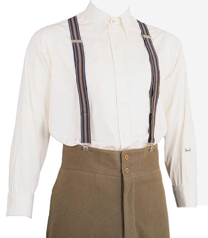 1940s Collarless Dress Shirt