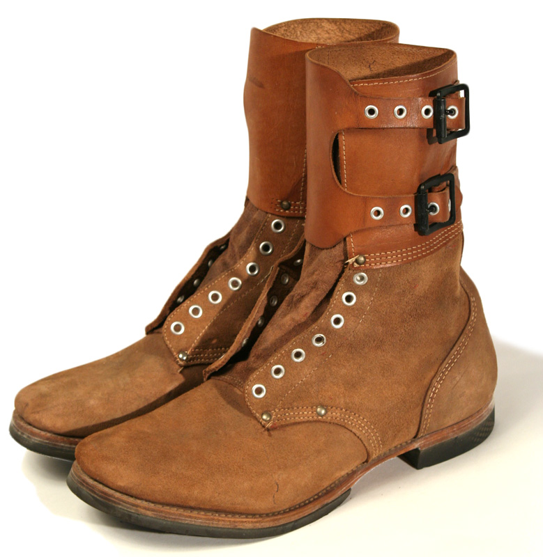 1940s Double Buckle Combat Style Work Boots